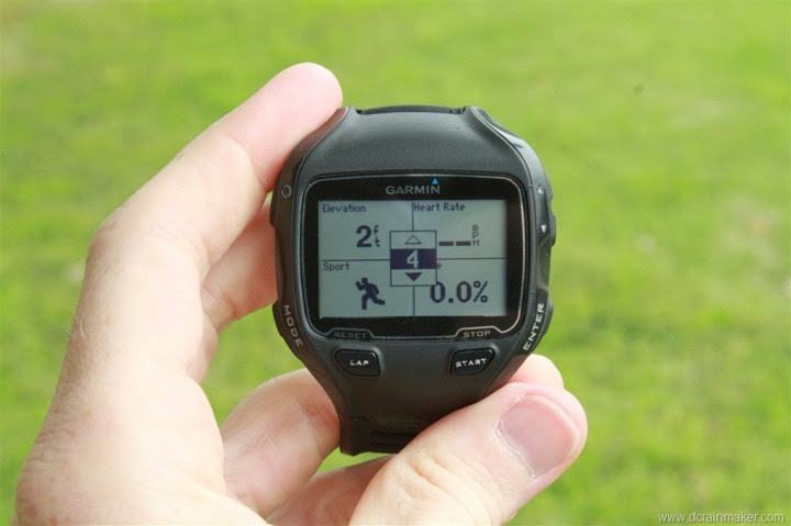 Garmin FR910XT Run Data Field Customization - Four fields