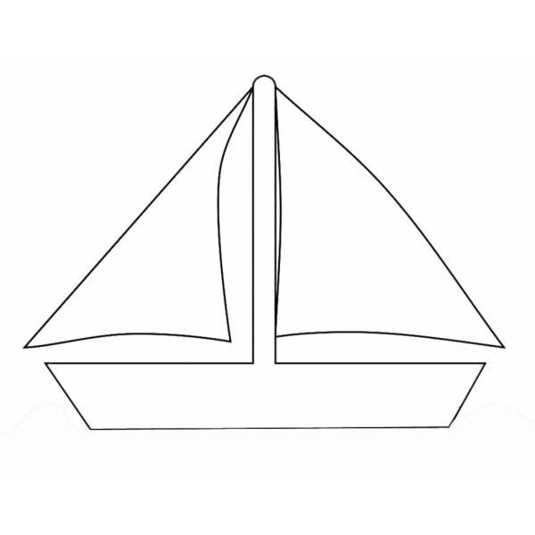 Disegno Di Barca Da Regata Da Colorare Per Bambini