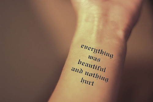 Inknart Temporary Tattoo Everything Was Beautiful And Nothing Hurt