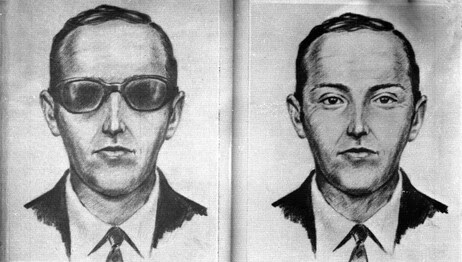 A 1971 artist's sketch released by the FBI shows the skyjacker known as 'Dan Cooper' and 'D.B. Cooper'. The sketch was made from the recollections of passengers and crew of a Northwest Orient Airlines jet he hijacked between Portland and Seattle.