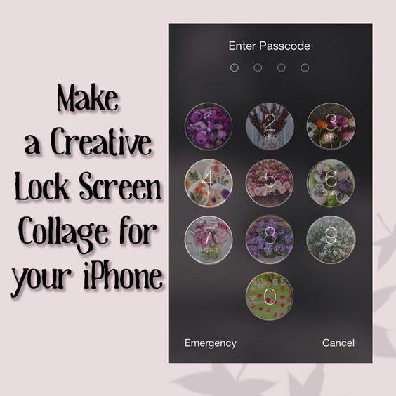 Make a Creative iPhone Lock Screen Collage! | #cute #nails ...