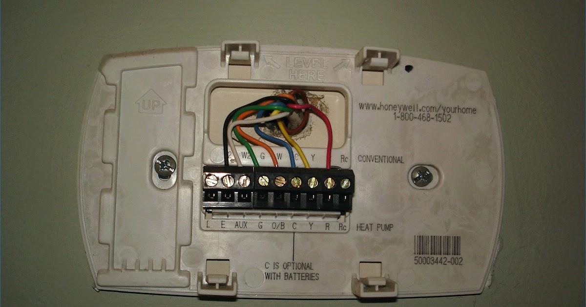 Honeywell Thermostat Wiring Heat Pump