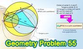 Problema de Geometría 56: Circunferencias, Tangentes, Cuerda, Paralelas.