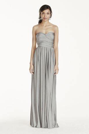 Long Jersey Style Your Way 2 Tie Bridesmaid Dress   David