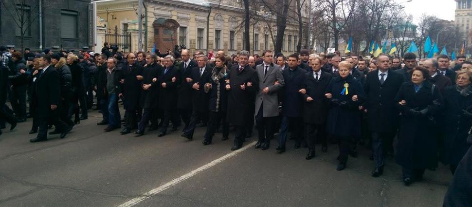 Ukraina w Marszu Godności. Zabici w zamachu podczas uroczystości w Charkowie