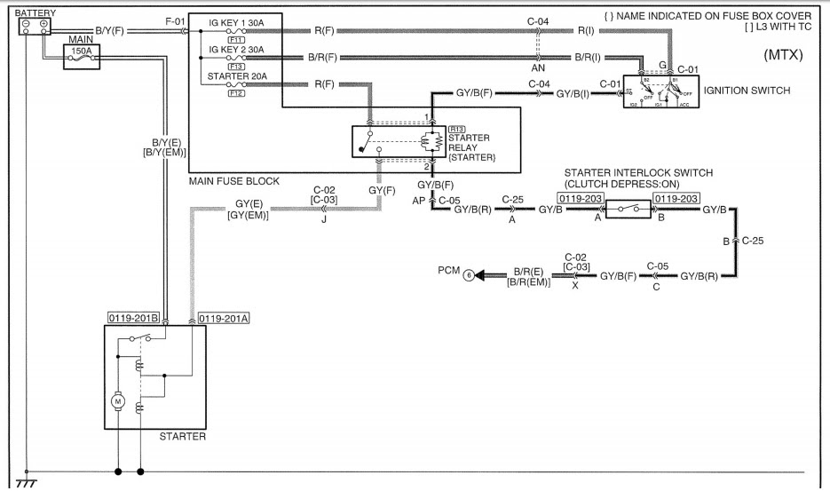 Circuit Electric For Guide  2007 Mazda 3 Transmission Wiring Diagram