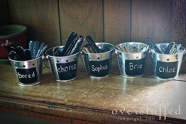 Easy DIY buckets for chores