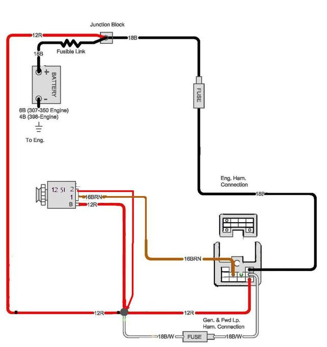Alternator Wiring Diagram Chevy 454