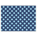 "Sky Blue Polka Dots on Navy Tissue Paper 17"" X 23"" Tissue Paper"