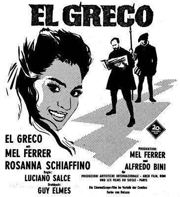 Cartel de la Película El Greco de Mel Ferrer (1966)