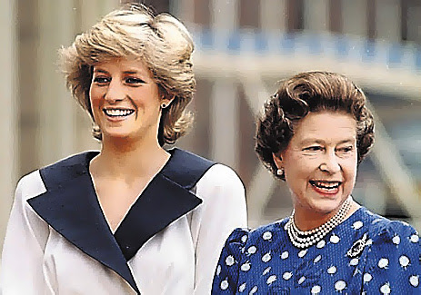 Queen Elizabeth II and Princess Di | Tacky Harper's Cryptic Clues