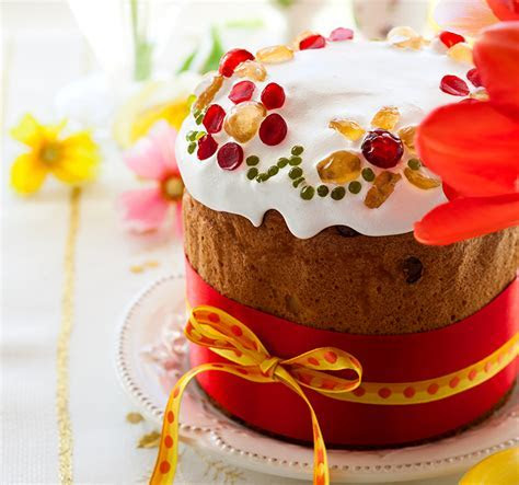 Picture Food Easter Kulich Icing sugar Pastry