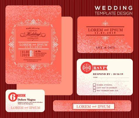 Editable wedding invitations free vector download (3,973