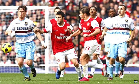 West Ham battled hard to hold Arsenal to goalless draw