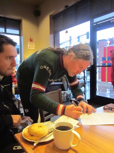 Theo and Michal (signing in)
