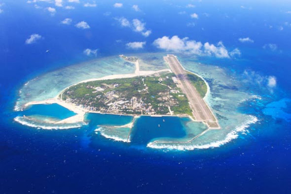 File Photo of Yongxing Island, home to the government of Sansha, China's southernmost city. (Photo/Xinhua)