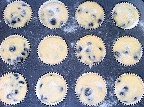 Muffins Sprinkled with Vanilla Sugar