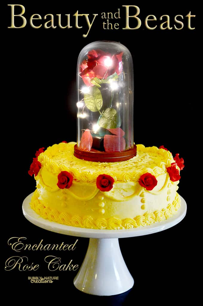 ... Beauty and the Beast Enchanted Rose Cake tutorial contains affiliate