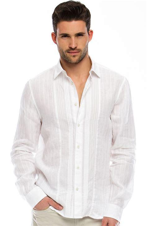 Linen Tuxedo Shirt   Dress Shirts   Shirts   Mens   Armani