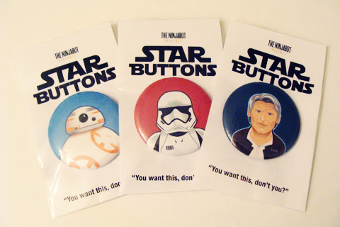 The Ninja Bot Star Wars Button Giveaway | Anakin And His Angel
