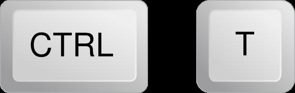 Ctrl + T   =  لقياس السطر.