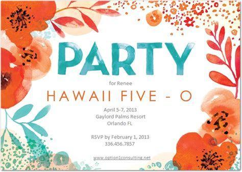 invite   Hawaii Five O (50th Bday Ideas)   Pinterest