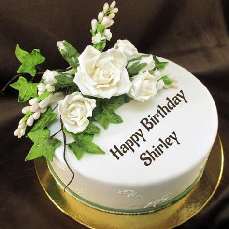 Happy Birthday Sugar Flower Awesome Cake With Name