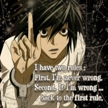 Most Profound L Lawliet Quote From Death Note L Answers Fanpop