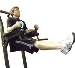 elevaciones de piernas en barra