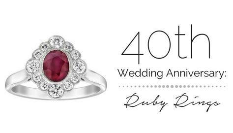 40th Wedding Anniversary: Ruby Rings