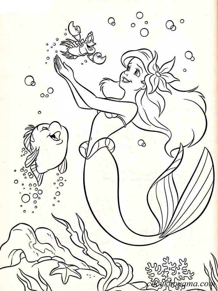 Küçük Deniz Kızı 11 ücretsiz Boyama Resimleri