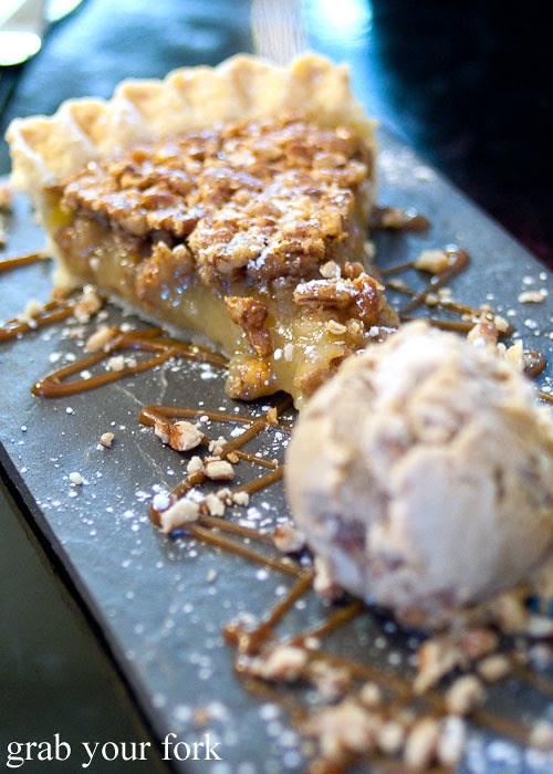 pecan pie dessert at jazz city diner darlinghurst