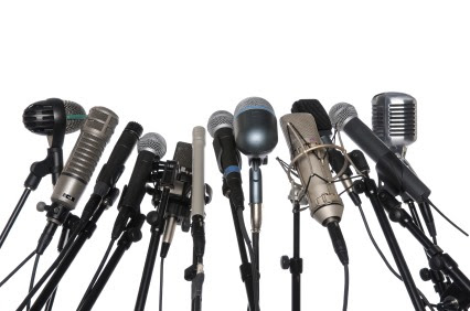 Image result for TV Radio microphones at news conference