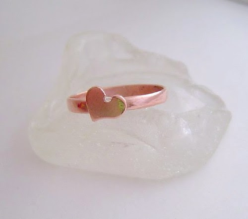 sweetheart copper ring