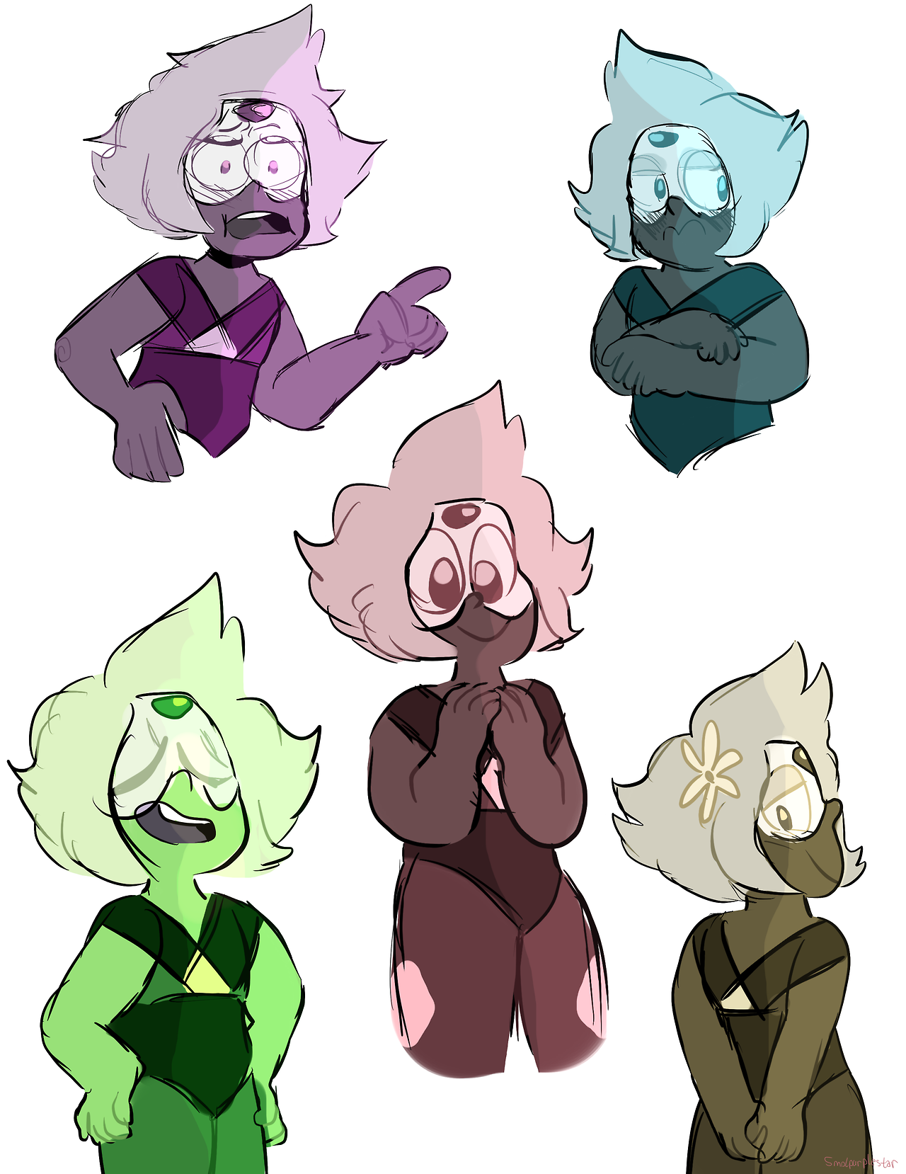 some peris with different color palletes