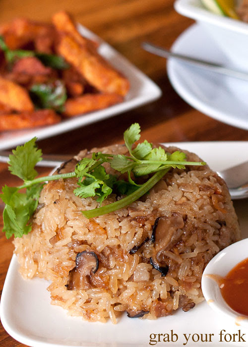 sticky rice at taipei chef, artarmon