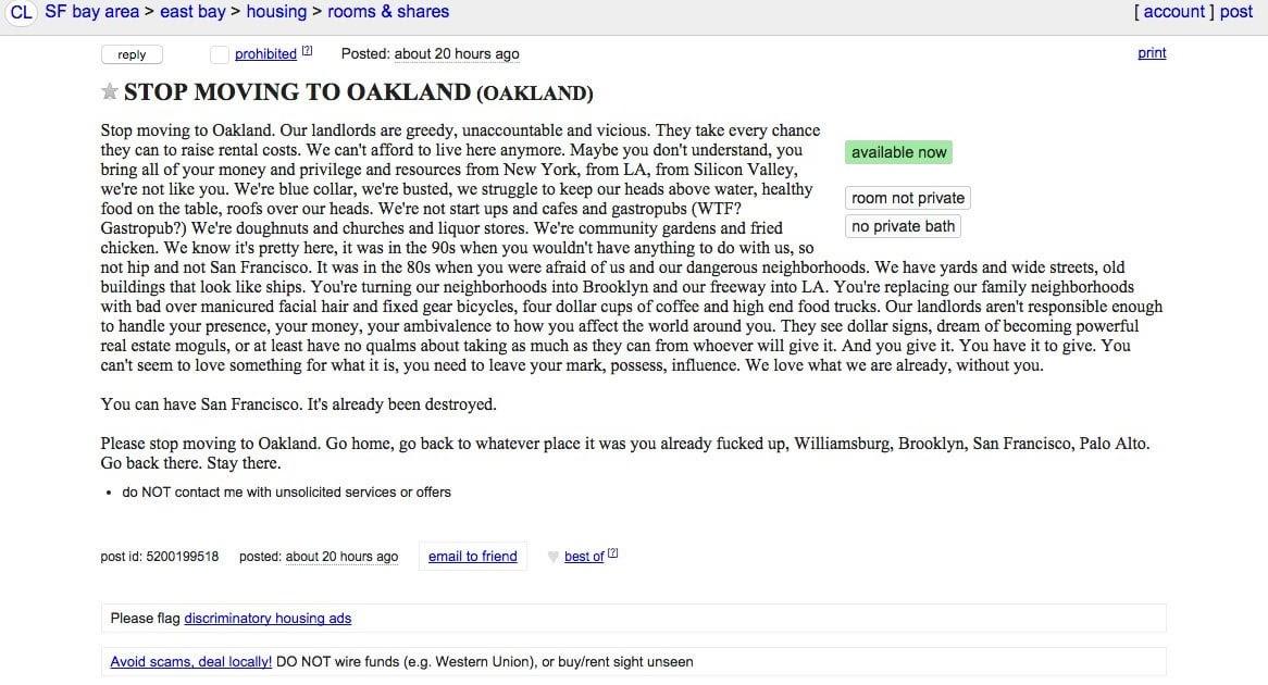 Oakland Bay Area Craigslist