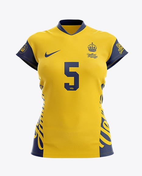 Download Women's Volleyball Jersey Mockup - Front View PSD Template ...