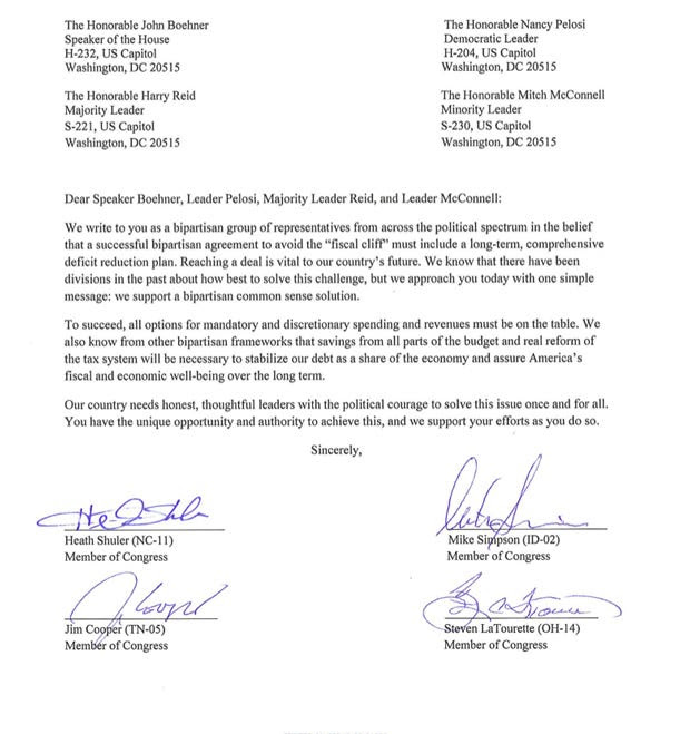 Republican 'Defectors' Sign Letter Endorsing Compromise On The Fiscal ...