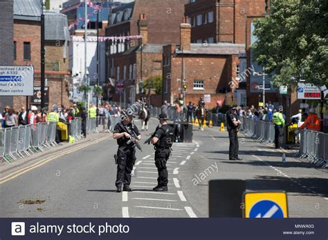 Police security at the Royal wedding of Prince Harry and