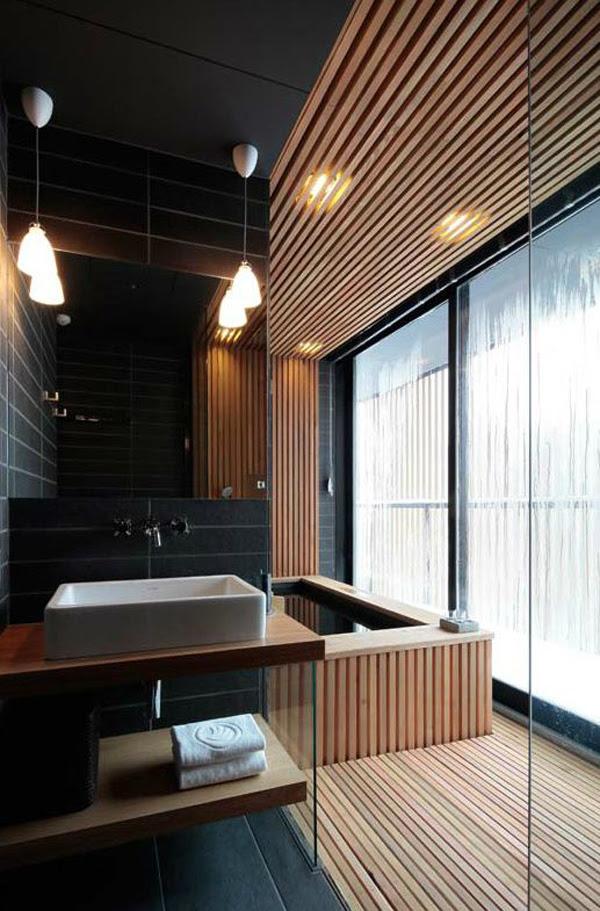 15 Minimalist Japanese Bathroom With Zen Elements | House ...