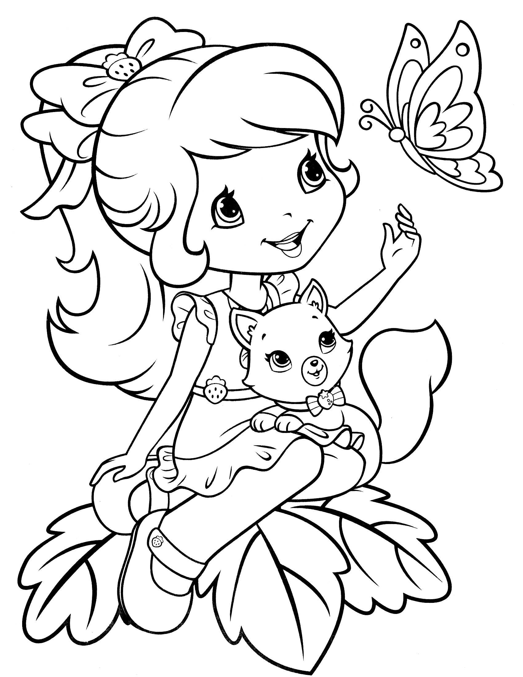 Strawberry Shortcake Coloring Pages Cool Coloring Pages 18 Free
