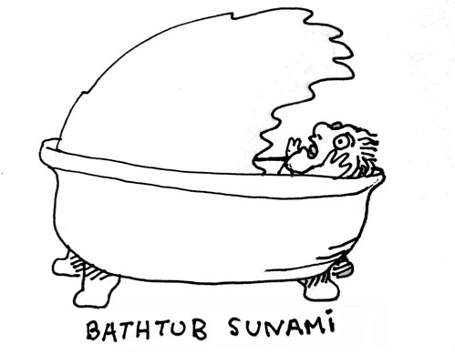 Bathtub sunami