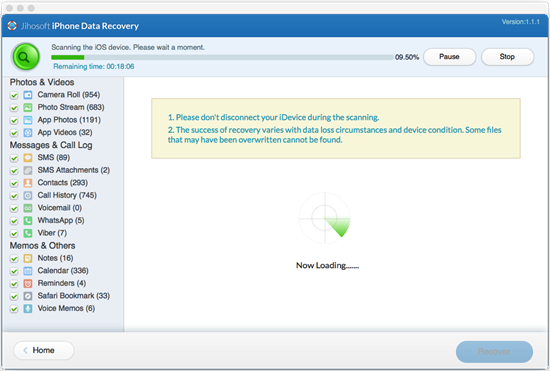 Jihosoft iPhone Data Recovery for Mac User Guide