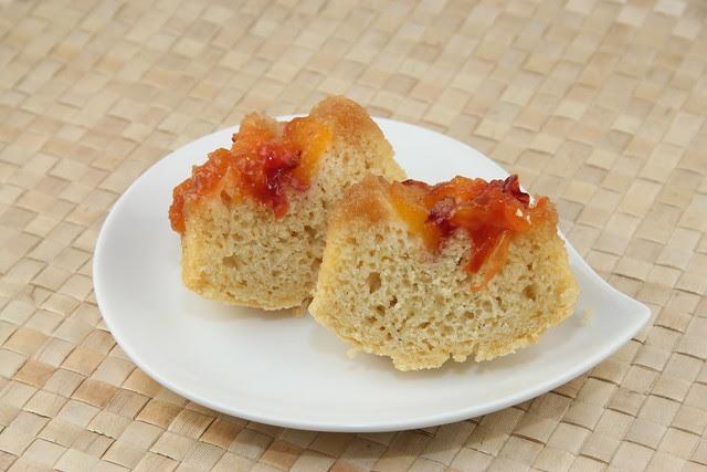Nectarine Upside-Down Muffins