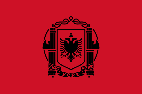 Archivo: Bandera de Albania (1939) png.