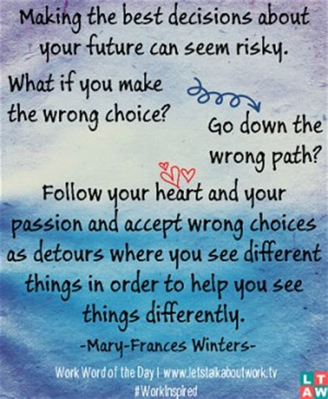 Making The Wrong Choices In Life Quotes