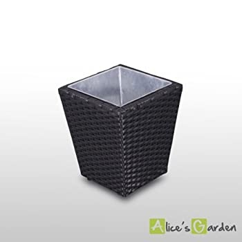 pas cher alice 39 s garden pot de fleurs en r sine tress e salerno cache pot vase d. Black Bedroom Furniture Sets. Home Design Ideas