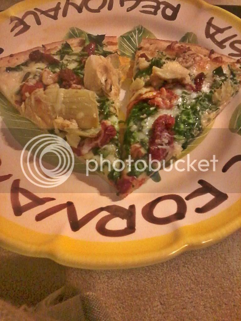 Recipe: Spinach & Artichoke Pizza