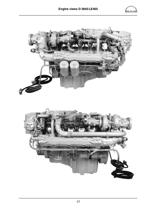 MAN Marine Diesel Engine D 2842 LE 417 Service Repair Manual